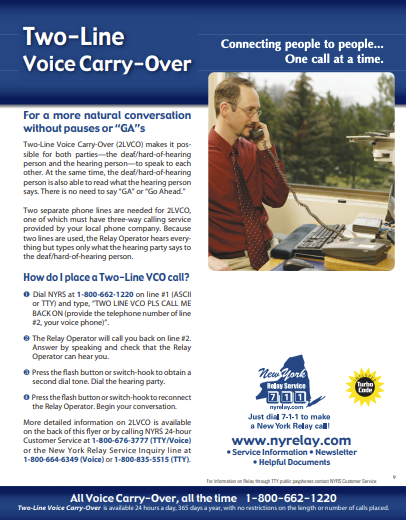 Two-Line Voice Carry-Over