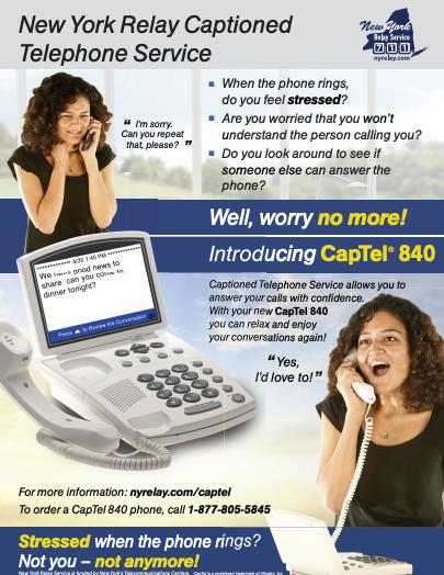 NY Relay Captioned Telephone